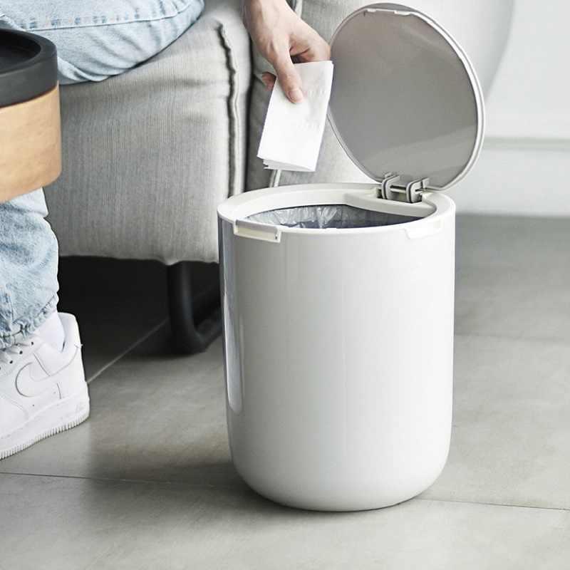 Plastic Trash Can Bin Press Type Kitchen Bedroom Garbage Can Classification Waste Bin Container Bucket Home Rubbish Lid Dustbin Waste Bins Aliexpress