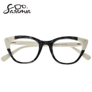 Image 3 - SASAMIA Acetate Eyeglasses Frame Women Vintage Cat Eye Glasses womens glasses Frame Spectacles Optical Frames Myopia Eyewear