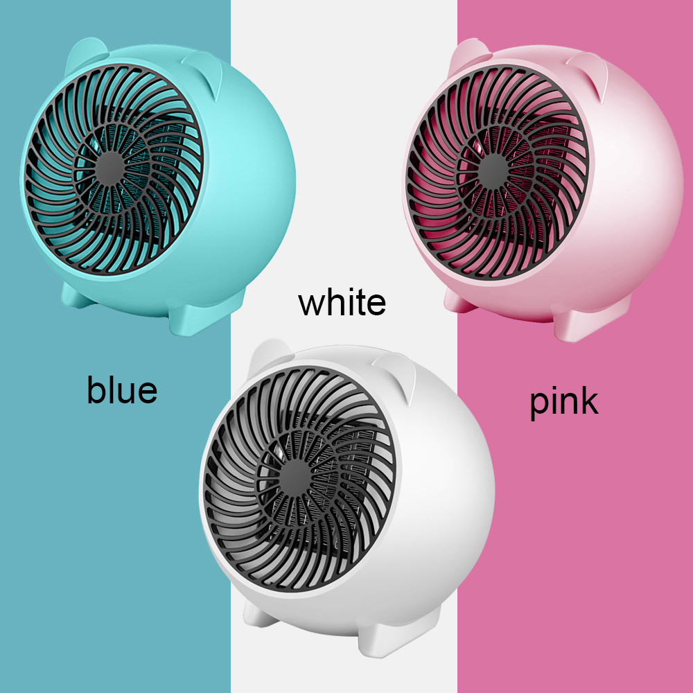Mini 250W Space Heater Portable Winter Warmer Fan Personal Electric Heater For Home Office Ceramic Small Heaters US/ EU Plug
