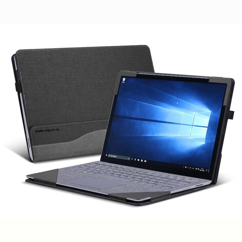 """Чехлы для ноутбуков microsoft 2018 Surface Laptop 2 13,5 """"Сплит Портативный PU кожаный защитный чехол для 2017 поверхности ноутбука 1 подарок"""