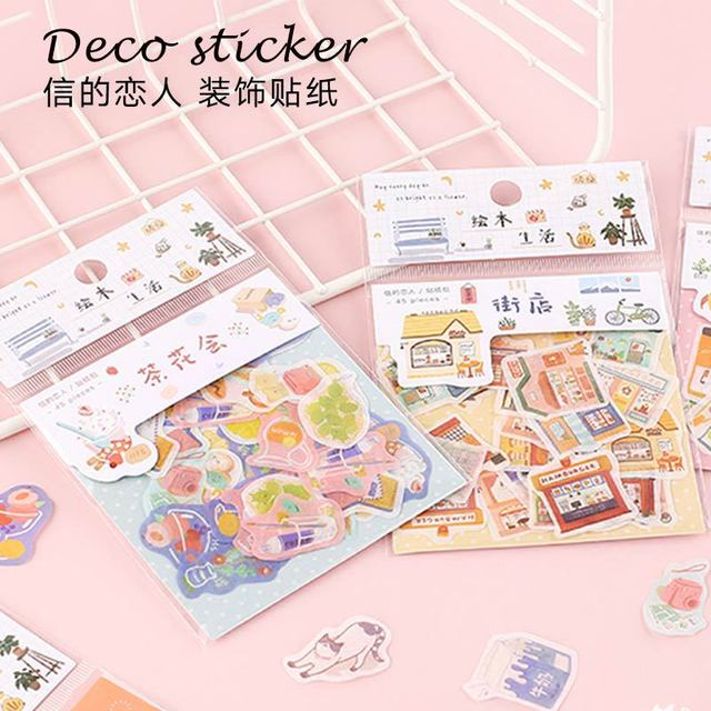 20set/lot Kawaii Stationery Stickers Picture book life Decorative Mobile Stickers Scrapbooking DIY Japanese Craft Stickers