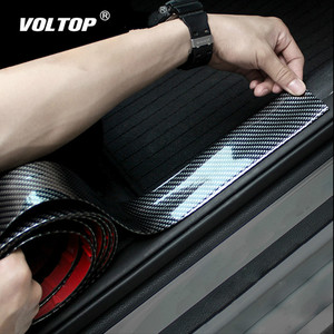 Image 2 - 3/5/7/10cm רכב מדבקות 5D פחמן סיבי גומי סטיילינג דלת אדן מגן מוצרים עבור KIA טויוטה BMW אאודי מאזדה פורד יונדאי