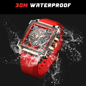 LIGE 2021 Men Watch Top Brand Luxury Waterproof Quartz Square Wrist Watches for Men Date Sports Silicone Clock Male Montre Homme 3