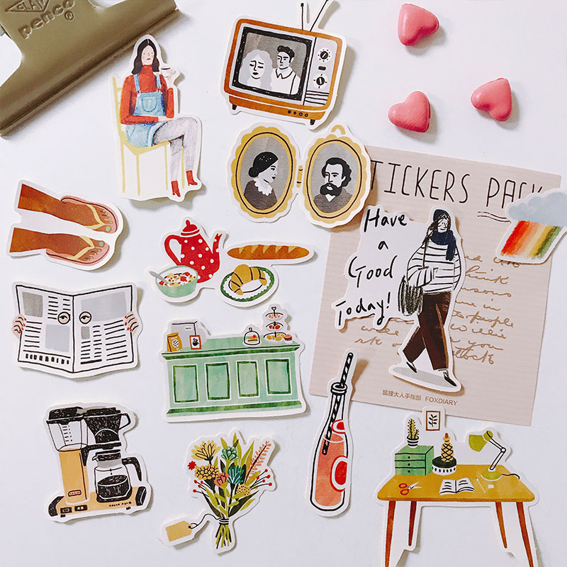 23pcs Have A Good Day  Waterproof Laptap Stickers For Home Decor On Laptop Decal Fridge Skateboard Doodle Toy Sticker