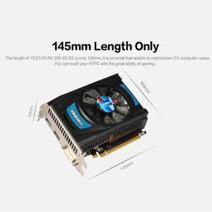 Image 3 - Yeston Radeon RX 550 GPU 4GB GDDR5 128bit komputer stacjonarny do gier PC karty graficzne wideo wsparcie DVI D/HDMI/DP PCI E 3.0
