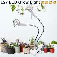 Fitolampy – lampe De croissance E27, Phyto à spectre complet avec pince pour semis De plantes, fleurs, Chambre De Culture intérieure
