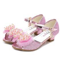 Новинка; модная детская обувь принцессы с бантом для девочек; детская повседневная обувь с блестками; Лоферы для девочек; Танцевальная обувь с бусинами