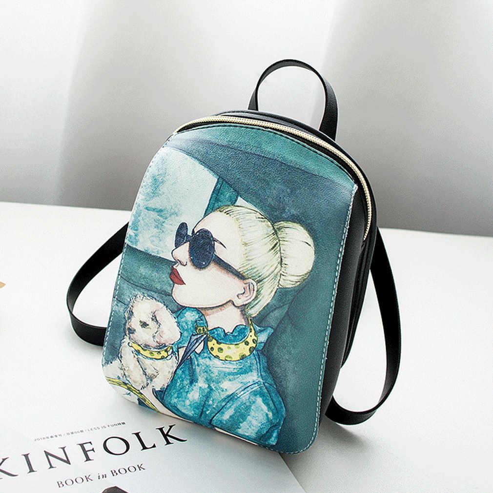 Estoque local menina feminina senhora de couro pequena bolsa de volta-mini saco de mochila capaz moda