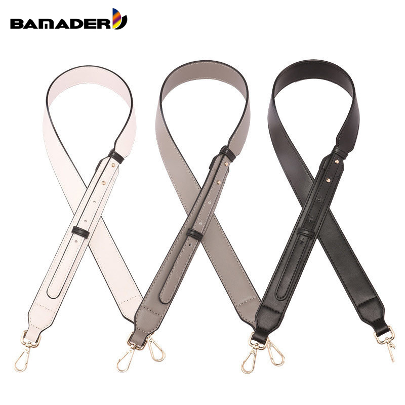 BAMADER Brand New Women's Fashion Adjustable Bag Strap High Quality Leather Shoulder Strap Trendy Bag Part Metal Bag Accessories