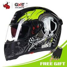 GXT шлем мотоциклетный анфас мото шлемы двойной козырек гоночный Кроссовый Шлем КАСКО модульный мотоциклетный шлем