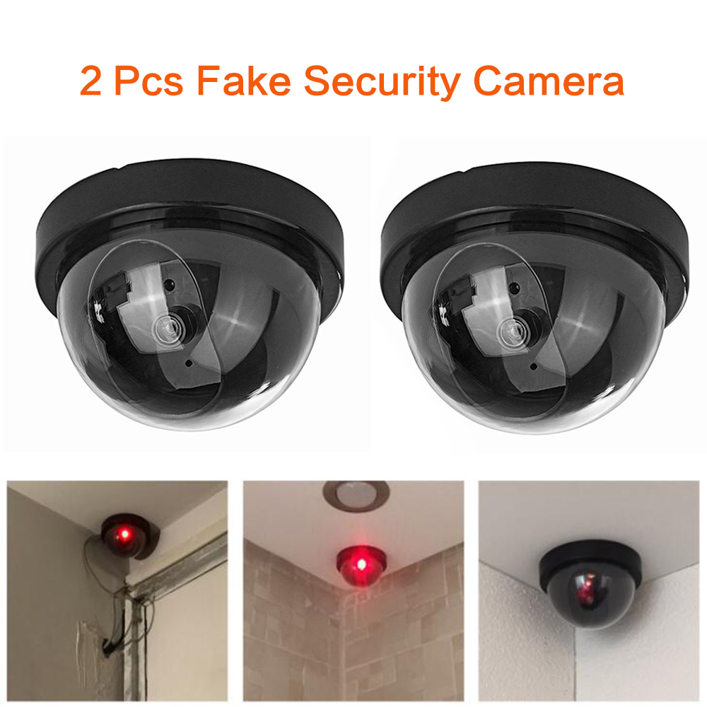 Dummy  Camera 2pcs Wireless Simulated Video Surveillance Indoor/outdoor With Flashing Red Led Light CCTV Home Security Surveilla
