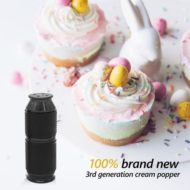 Distributeur de craquelins de crème Portable fouet de crème Mini poignée en caoutchouc sûr bouteille de gaz ouvre-bouteille cuisine crème Dessert outil