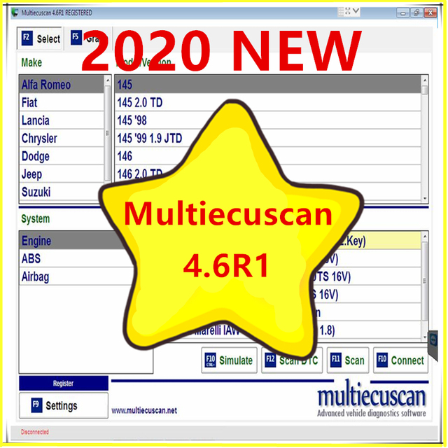 Super ❗ 2020 NEW MultiEcuScan v4.6R FULL Registered NEW MultiEcuScan v4.6R free shipping