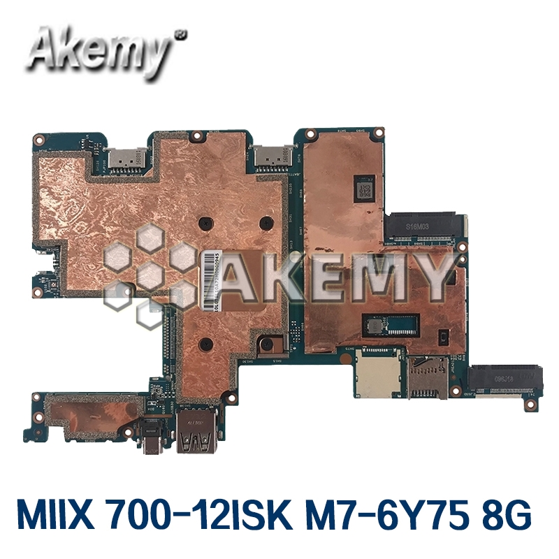Laptop <font><b>motherboard</b></font> For Lenovo IdeaPad MIIX 700-12ISK M7-6Y75 8G Mainboard 5B20K66835 NM-A641 image
