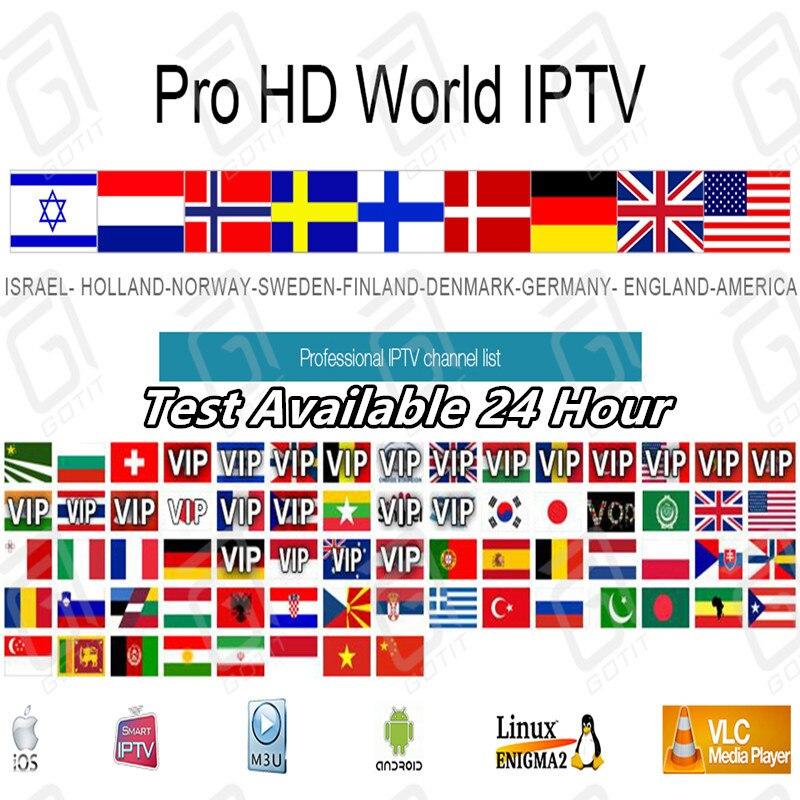 Pro World HD Iptv Subscription Android M3u Nordic France Sweden Bulgaria Netherlands Israel Spain Finland Germany Netflix Iptv