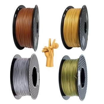 Metal PLA 1 75mm Filament drukarki 3D 1Kg 500g 250g szpula metalowe z teksturą złoto srebro miedź brąz metalowe materiały do drukowania PLA tanie i dobre opinie EasyThreed CN (pochodzenie) solid Metal 3D Printer PLA Filmant