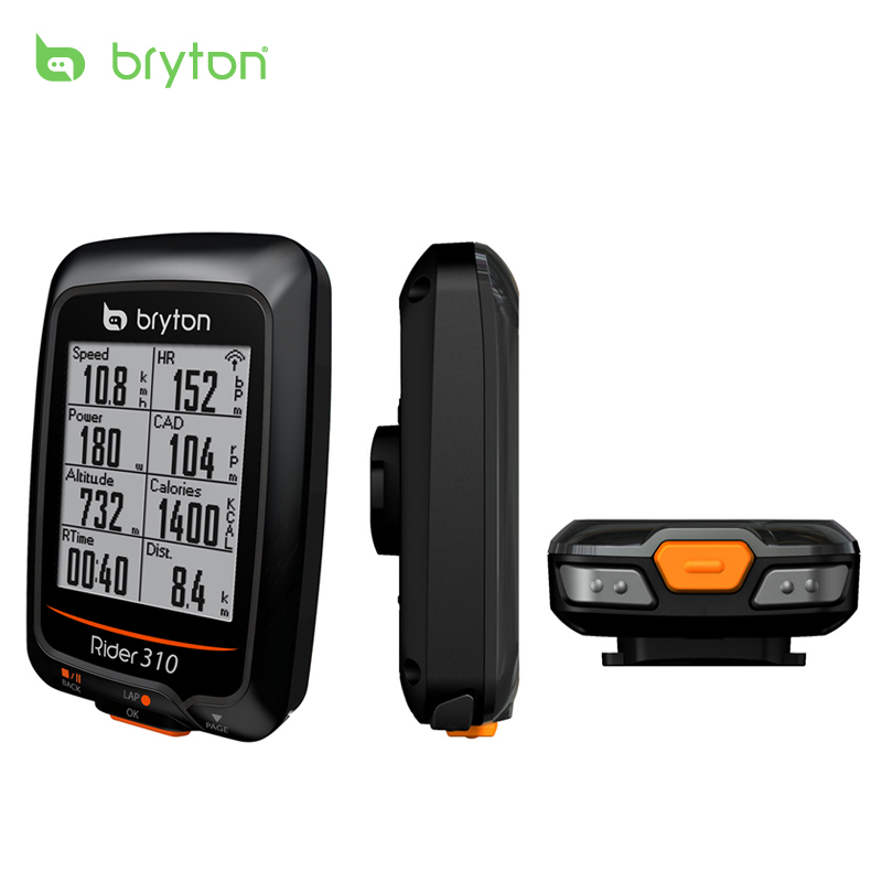 Bryton Rider 310 Enabled Waterproof GPS Bicycle Cycling Computer & Extension Speedometer R310
