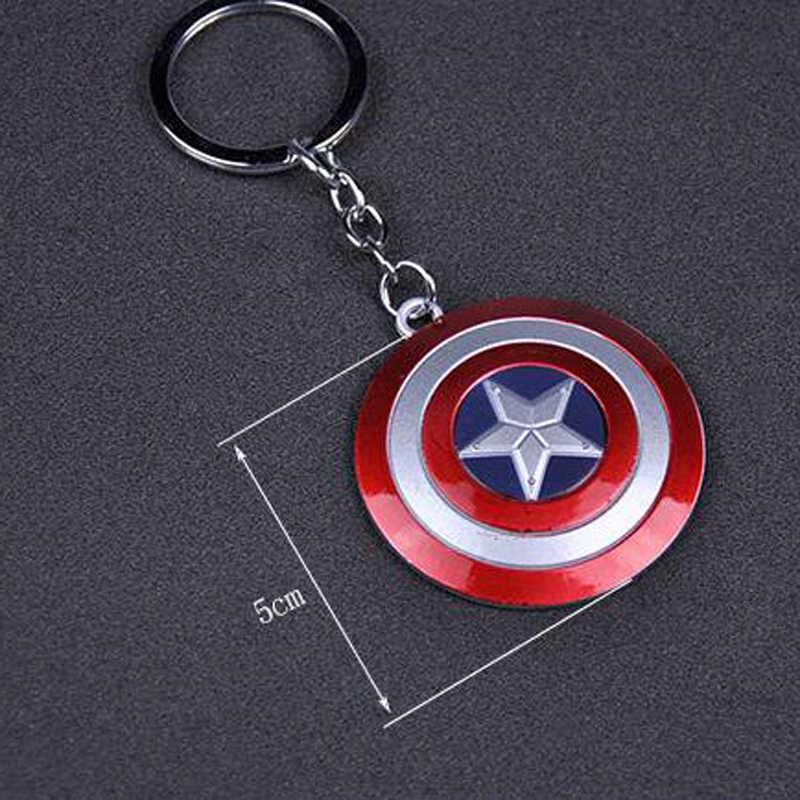 2019 nouveau Marvel Avengers marteau de Thor Mjolnir porte-clés capitaine amérique bouclier Hulk Batman masque porte-clés porte-clés goutte en gros