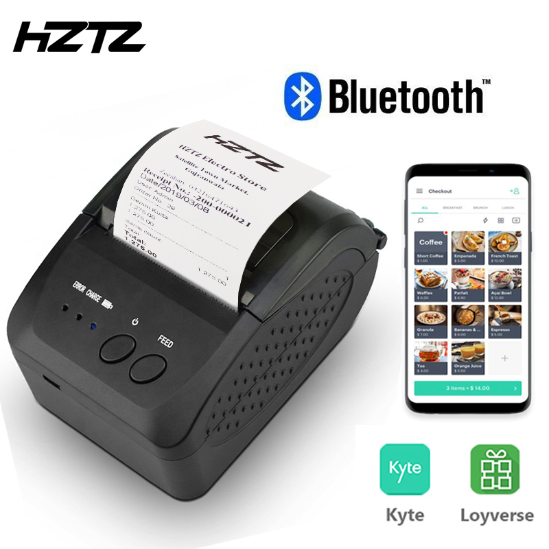 Portable Bluetooth Thermal Receipt Printer Mini 58mm Printer POS Receipt Machine For Mobile Phone Windows