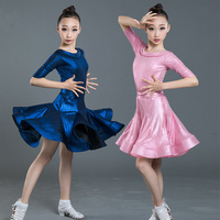 latin dance dress for girls kids dance costume cha cha dress children stage dance wear salsa dress latin competition dress pink