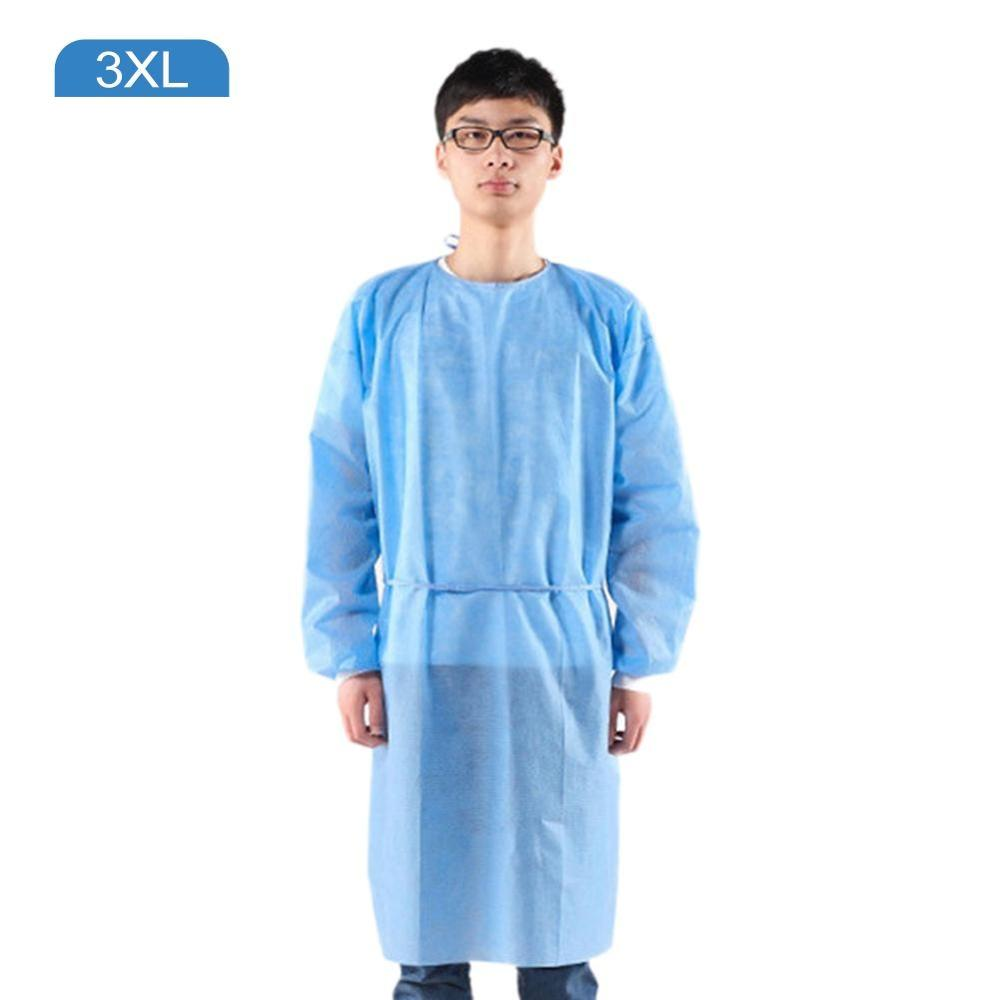 5Pcs/Set Disposable Protective Isolation Gown Indoor Outdoor Dustproof Coverall For Women Men Anti-fog Anti-particle