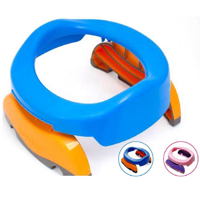 Portable Baby Infant Chamber Pots Foldaway Toilet Training Seat Travel Potty Rings With Urine Bag For Kids Boy Girl