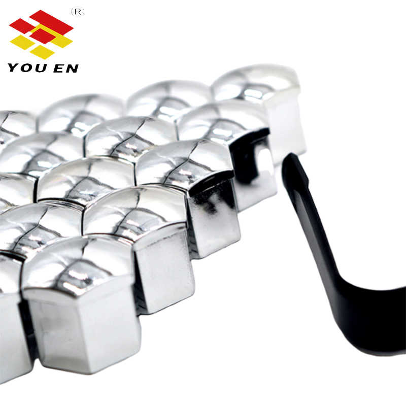 Youen 20 Chiếc 17 Mm/19 Mm Nylon Xe Bánh Lốp Van Thân Cây Không Khí Bụi Nắp Vặn Phụ Kiện
