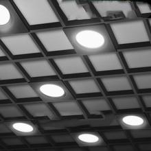 Oświetlenie kratki LED 12 #215 1 2cm 15x15cm 7 12W 110-240V przełącznik trzy kolory sufitowe światło czarny kwadrat dekoracja domu lampy F0501 tanie tanio CN (pochodzenie) NONE Osadzone Pokrętło E11880