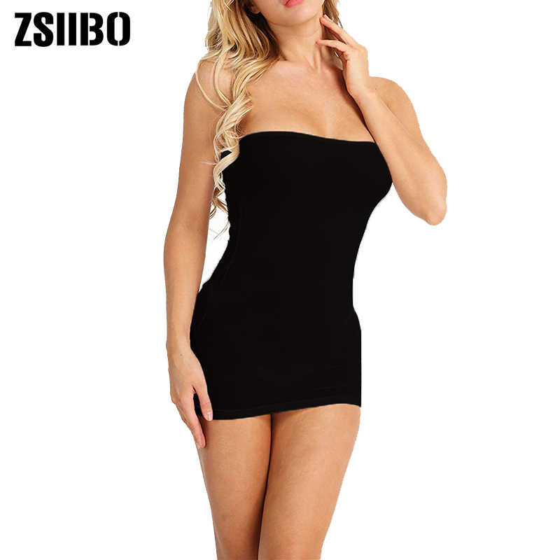 Zsiibo Off Shoulder Backless Party Dress Vrouwen Sexy Jurk Zwart Jurken Strapless Lange Buis Top Vestidos Vrouwen Jurk