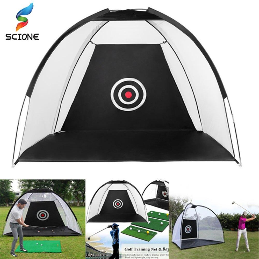 2M Golf Cage Practice Net Training Indoor Outdoor Sport Golf Exercise Equipment Garden Trainer Portable Golf Training Tent  XA9Y