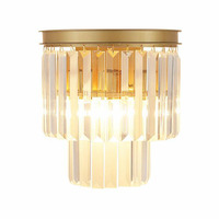Modern Crystal Wall Sconces Up and Down Wall Lights Vintage Loft Style Wall Lamp Bedside Home Bedroom Accessories Stairs Lightin