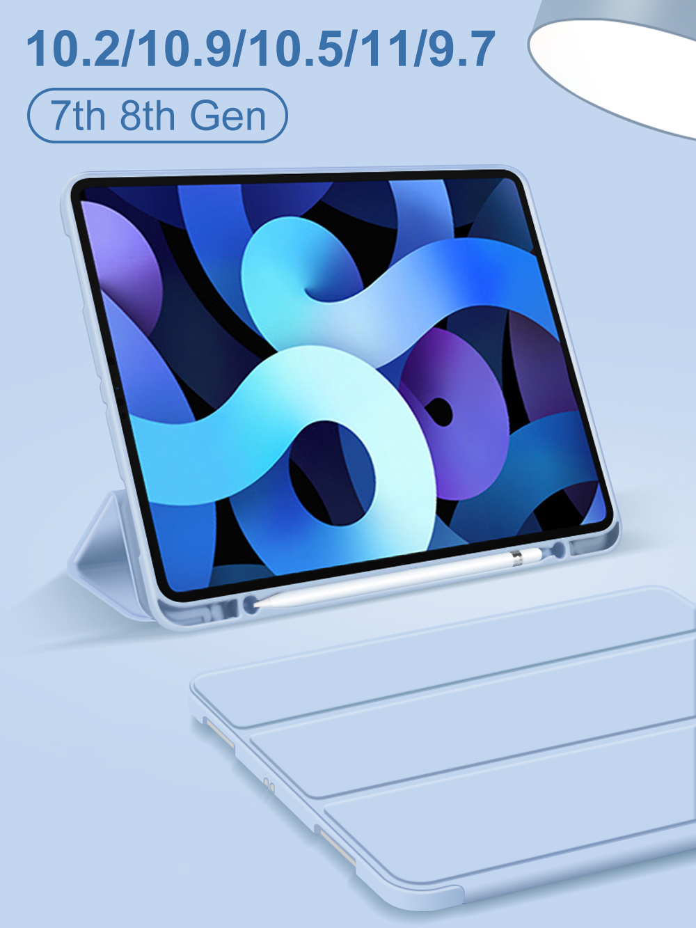 For iPad Air 4 iPad Pro 11 2020 10.2 Case for iPad 7th 8th Generation Case Air 2020 2018 9.7 Air 4 10.9 Mini 5 Case Funda Capa