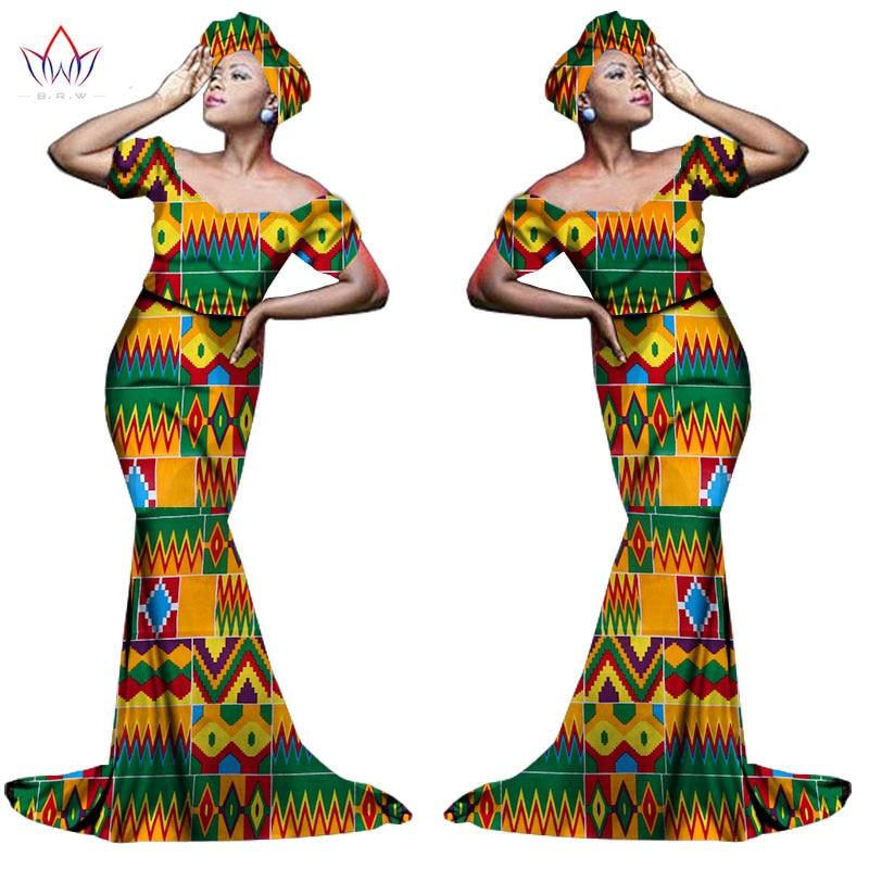 Африканский хлопчатобумажный материал Платья Для Женщин Дашики традиционная Анкара Мода Африка одежда с коротким рукавом Анкара платья WY963 - Цвет: 25