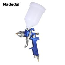 Nasedal hvlpガン塗料スプレー 1.4 ミリメートル/1.7 ミリメートル 600 ミリリットル重力供給エアブラシキット車の家具噴霧絵画ツール