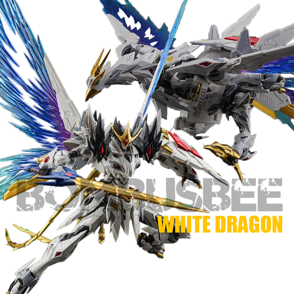【IN STOCK】Motor Nuclear MN-Q02 1/72 Scale White Dragon Action Figure Robot PVC Figure Model Kid Toys Transformation Bombusbee