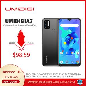 UMIDIGI A7 Android 10 6.49'' Large Full Screen 4GB 64GB Quad Camera Octa-Core Processor 4G Global Version Smartphone NFC