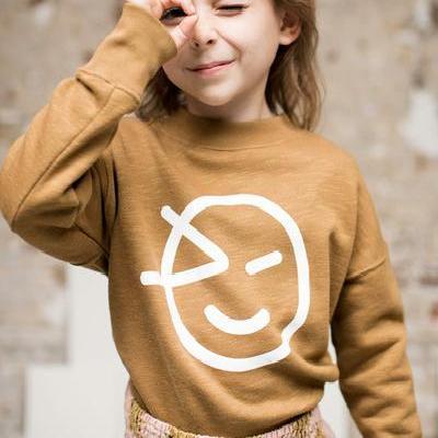 Kids Sweaters 2021 Wynken Brand New Autumn Winter Boys Girls Cartoon Face Print Sweatshirts Baby Children Outwear Clothes Tops 2