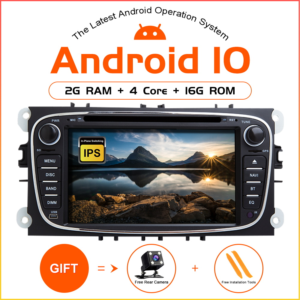 ZLTOOPAI Android 10 Auto Radio For Ford Focus 2 S-Max C-Max Mondeo 4 Galaxy Kuga 2008-2010 Car GPS Stereo Car Multimedia Player