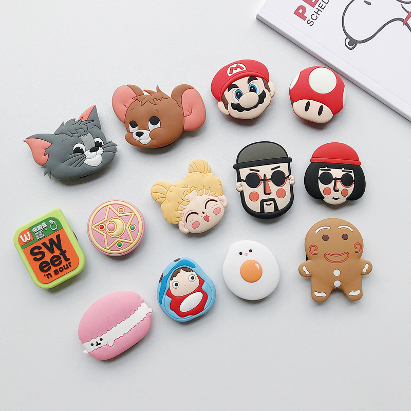 Cute Cartoon Animal Airbag Mobile Phone Extension Frame Finger Stand Egg Phone Stand Stand Luxury Universal Mobile Phone Stand