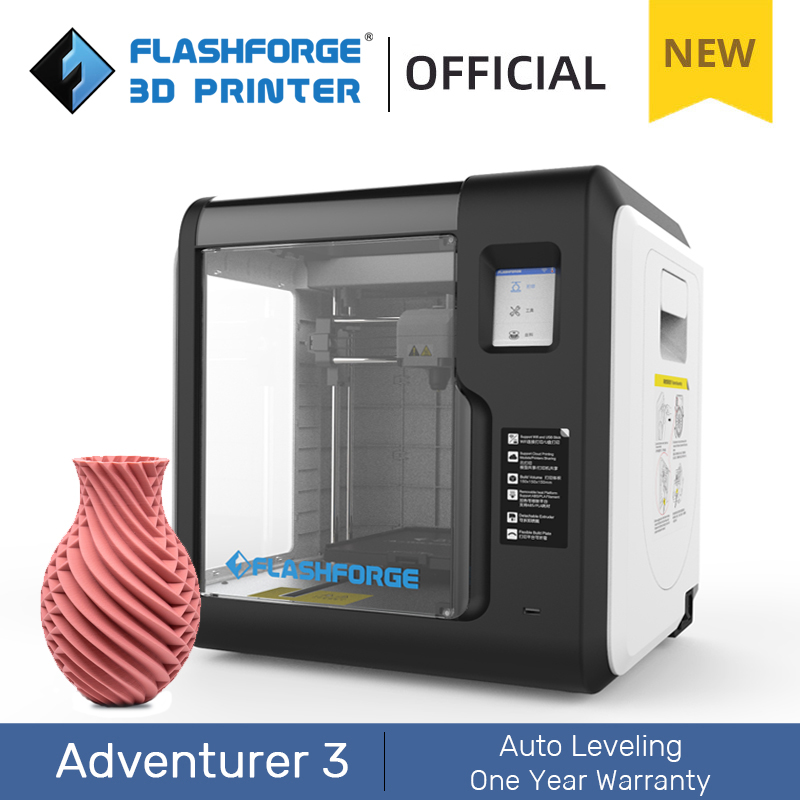 Flashforge 3D Printer Adventurer 3 DIY Kit Auto-leveling WIFI Out of Box Built-in Camera Automatic Leveling 3D Cloud Printing 1