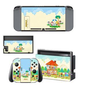 Image 2 - ויניל מסך עור בעלי החיים מעבר מגן מדבקות עבור Nintendo מתג NS קונסולת + בקר + Stand מחזיק עורות