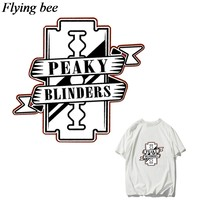 Flyingbee Lucu Transfer Panas Patch Pakaian Stiker T-shirt Gaun Dekorasi Patch Panas Tekan Appliques X0828(China)