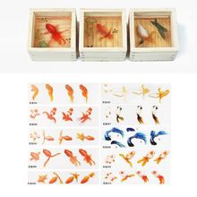 Filling-Crafts Sticker Making-Material Resin Jewelry Epoxy-Filler Crystal Painted Goldfish-Leaf
