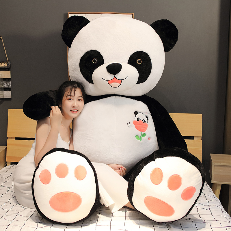 Hot 60cm/80/100CM Cute Big Panda Doll Plush Toy Animals Pillow Kids Birthday Christmas Gifts Cartoon Toys Big Pillow On The Bed