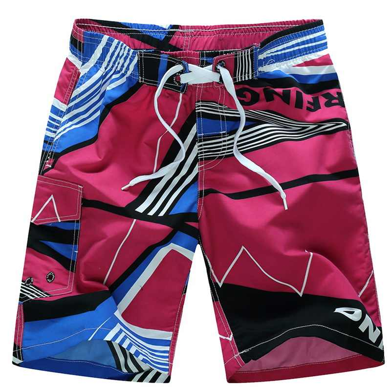 Fashion Men Beach Shorts Summer Swimming Trunks Male Swimwears Quick Dry Breathable Loose Print Elastic Casual Shorts Plus Size
