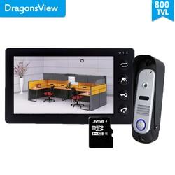 Dragonsview 7 Inch Video Intercom Video Deurtelefoon Deurbel C Intercom Opname Functie