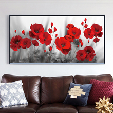 Modern Art Wall Canvas Painting Red Poppy Flowers Wall Art Posters and Prints Wall Pictures for Living room Home Cuadros Decor modern nordic elegant ballet dancer canvas painting wall art posters and prints for living room wall pictures home cuadros decor