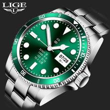 Lige Смарт часы мужские умные ip67 Водонепроницаемый Спорт Фитнес