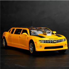 1:32 Chevrolet-Transformers Sports Car Alloy Diecast Model Car Toy Pull Back Flashing For Kids Birthday Christmas Gifts Toys 111