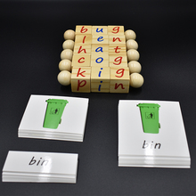Baby Monterssori Educational Toy Alphabet Cube Block  Spelling Words Game Learning English Cards Early Educational Toy  for Kids wooden cardboard english spelling alphabet game early education educational toys educational toy gift creative games brinquedos